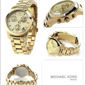 Michael Kors gold tone MK5384 mini runway watch